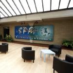 Panneau de la salle de la salle d'accueil du SPAF.