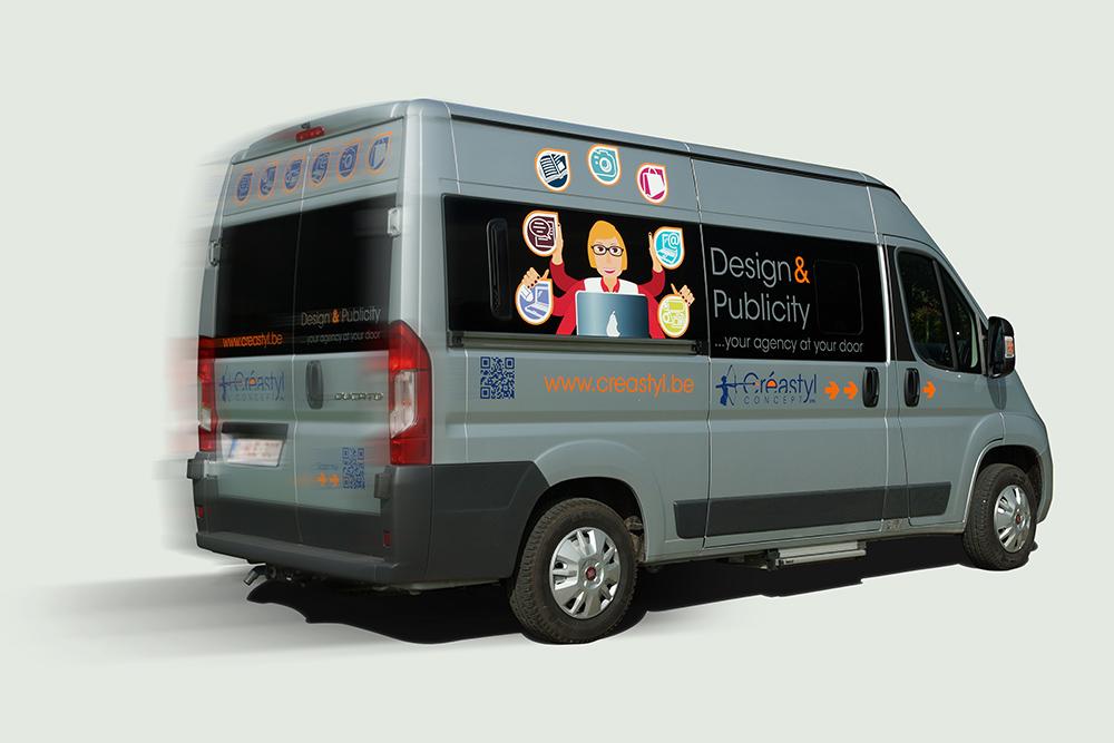 La camionnette de Créastyl Concept sprl