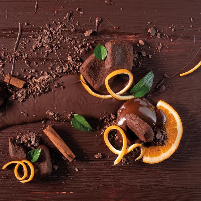 Création d'une ambiance liée au chocolat et à l'orange